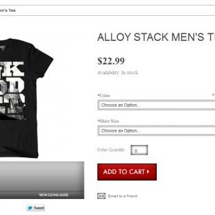 Alloy stack shirt
